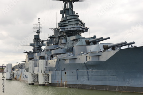 The Battleship Texas in Houston, Texas Fototapete