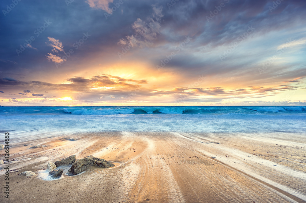 Fototapety, obrazy: Sunset at the beach