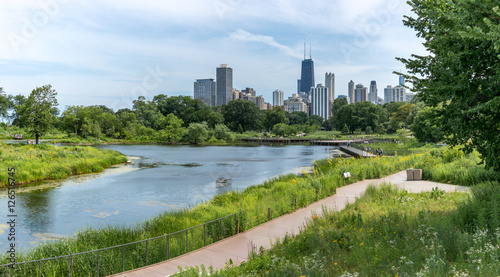 Fotografia  Pond at Chicago's Lincoln park