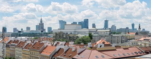 Fototapeta Warsaw cityline panorama obraz