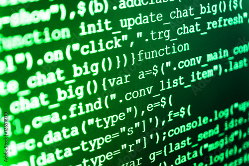 Website programming code  Software engineer at work  New