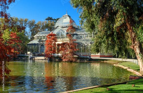 In de dag Madrid crystal palece of El Retiro park,Madrid