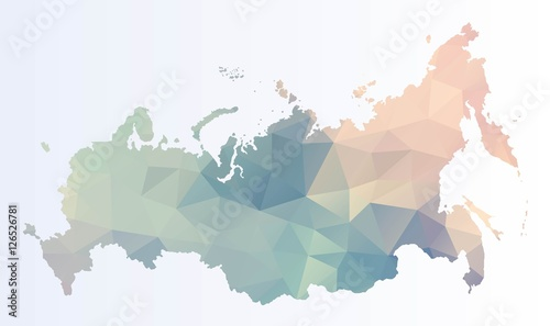 Fotografie, Tablou Polygonal map of Russia