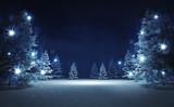 free area in winter glittering magic woods