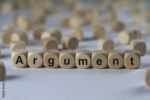 Photo Argument - Holzwürfel mit Buchstaben