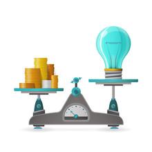 Profitable Idea Vector Concept In Flat Style