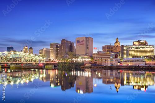 Photo Stands Newark, New Jersey Skyline