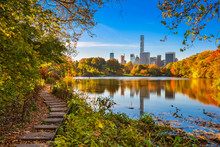 Central Park New York City During Autumn.