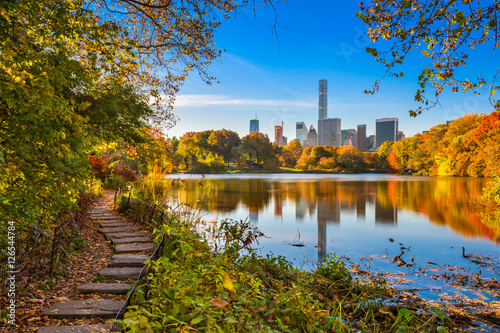 Wall Murals New York Central Park New York City during Autumn.