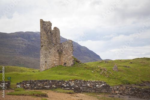 Recess Fitting Ruins Die Ruinen Ardvreck Castle, Loch Assynt, Lairg, Schottland