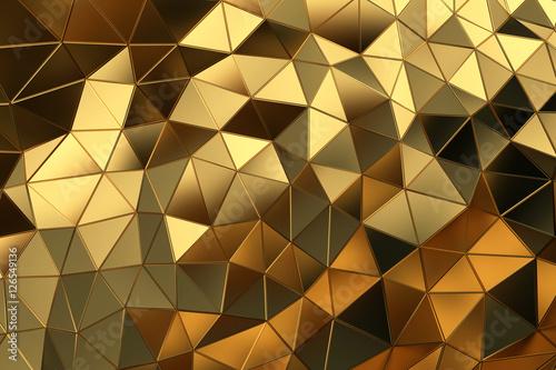 abstrakcyjna-zlota-siatka-3d