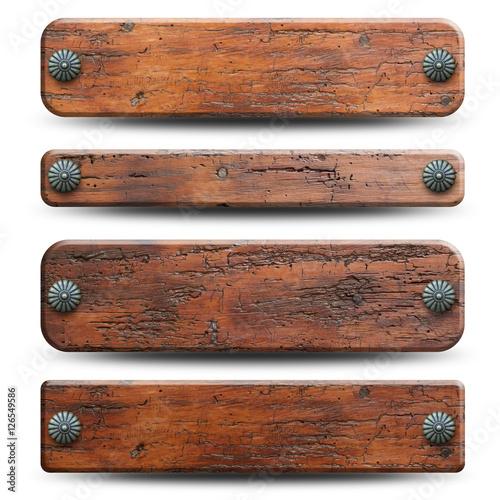 Valokuva  4 plaques en bois