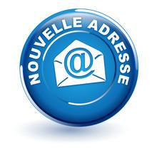 Nouvelle Adresse Mail Sur Bouton Bleu