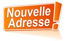 Nouvelle Adresse Sur étiquette Orange