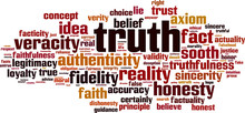 Truth Word Cloud Concept. Vector Illustration