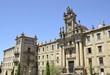 Facade of Monastery of San Martin Pinario in Santiago de Compostela, Spain
