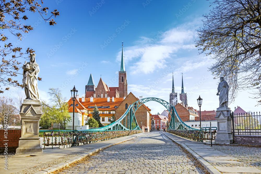 Fototapety, obrazy: Most Tumski we Wrocławiu