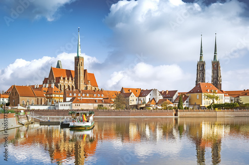 Tumski (Cathedral) Island in Wroclaw, Poland