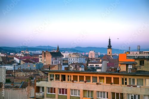 La pose en embrasure Bruxelles Roofs of Cluj-Napoca in the evening, Romania