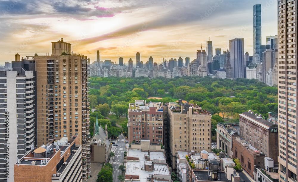 Fototapety, obrazy: New York and Cental Park Sunrise