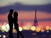 Silhouette Of Romantic Lovers ...