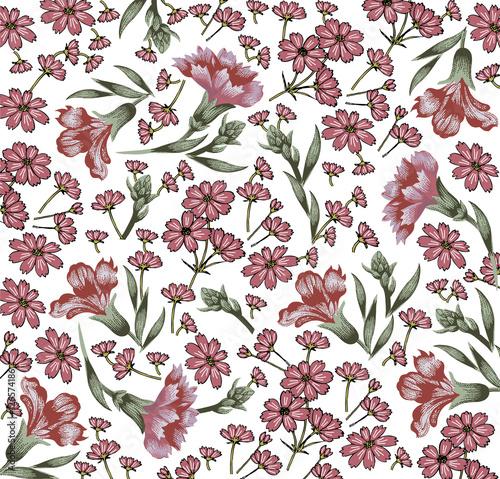 gozdzik-chaber-klasyczny-wzor-piekne-rozowe-kwiaty-tlo-kwitnace-kwiaty