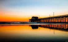 Newport Beach Pier At The Sunset