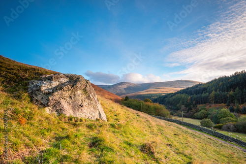 Printed kitchen splashbacks Hill The Cheviot from Coldburn Hill, from which the hill range takes its name, is the highest point in Northumberland, located in the Anglo-Scottish borders, seen here in autumn