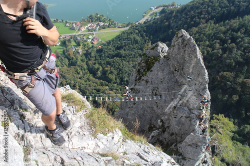 Klettersteig Austria : Cable bridge in drachenwand klettersteig austria buy this stock