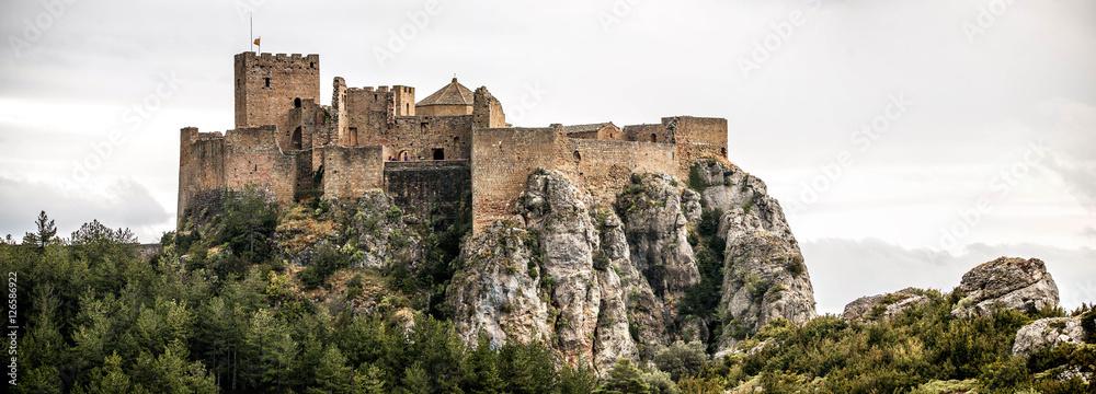 Fototapety, obrazy: Landscape with Loarre Castle in Huesca, Aragon in Spain