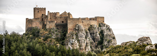 Aluminium Prints Castle Landscape with Loarre Castle in Huesca, Aragon in Spain