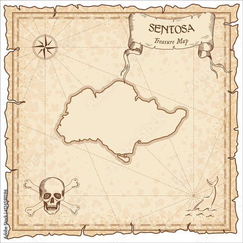 Sentosa old pirate map Poster