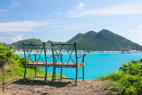 Fotografia, Obraz  Overview of Philipsburg Sint Maarten