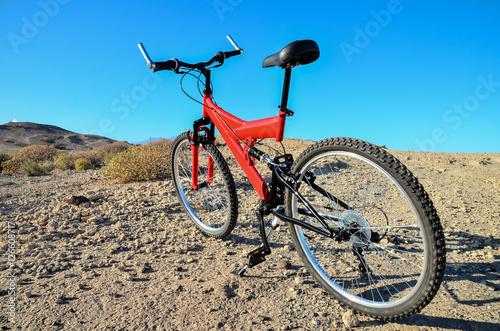 Fotobehang Fiets Full Suspension Mountain Bike