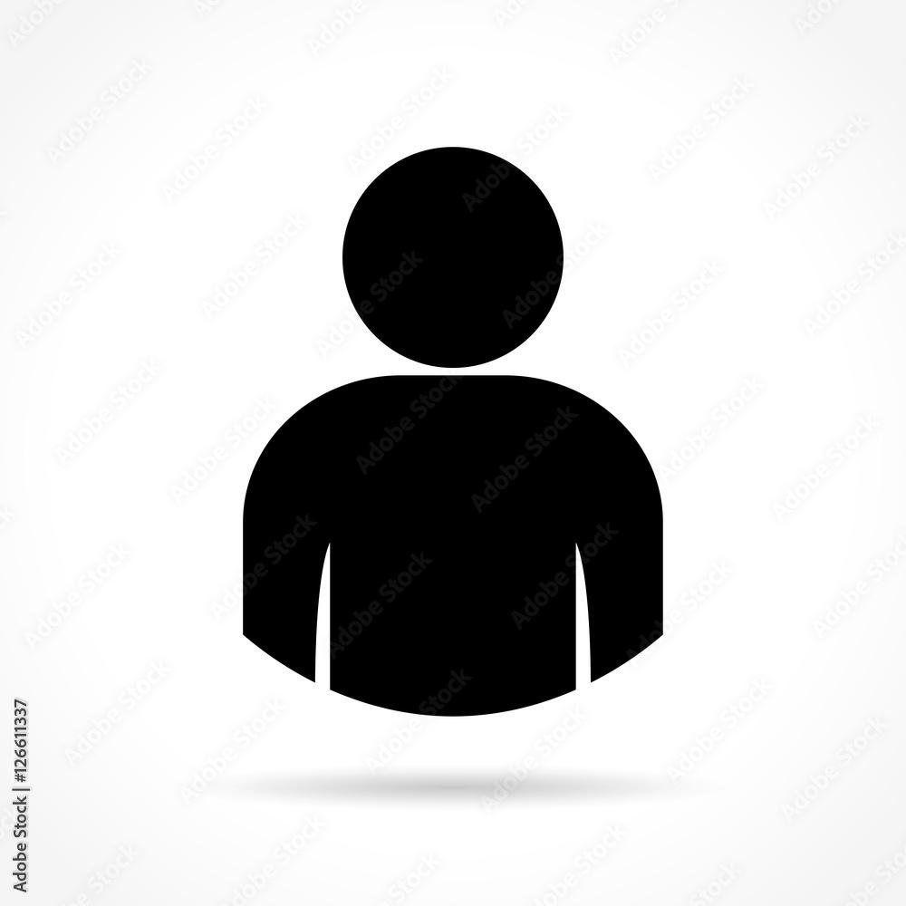 Fototapeta person icon on white background