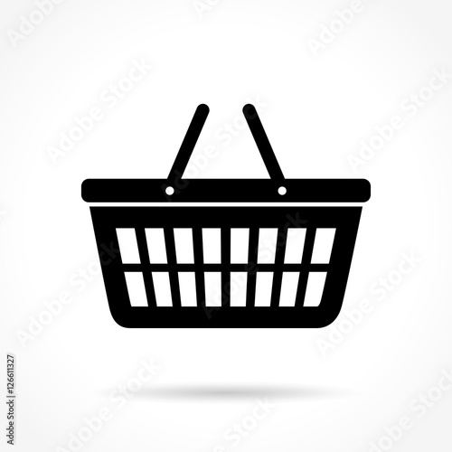 Obraz na plátně  basket icon on white background