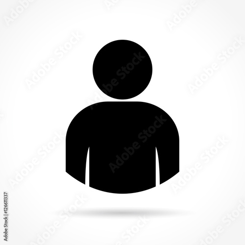 person icon on white background