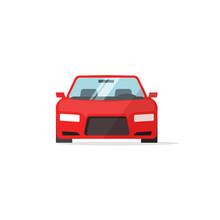 Car Icon Red Color Vector Illu...