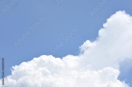 Blue sky with cloud on sun shine day