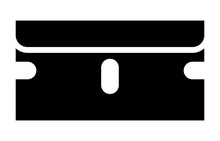 Single Edged Razor Blade Flat Icon For Apps And Websites