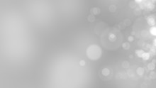 Gray Background. Abstract Glowing Bokeh Circles Or Sparks. 3D Rendering