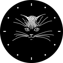 The Watch Dial With A Cat