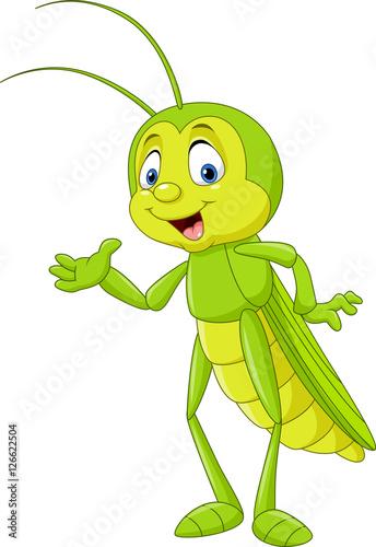 Fotografia Cartoon grasshopper presenting