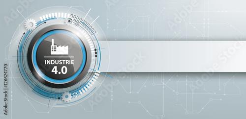 Fotografie, Obraz  Industrie 4.0 Header mit Banner