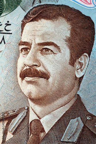 Fotografie, Obraz  Saddam Hussein portrait from old Iraq's money