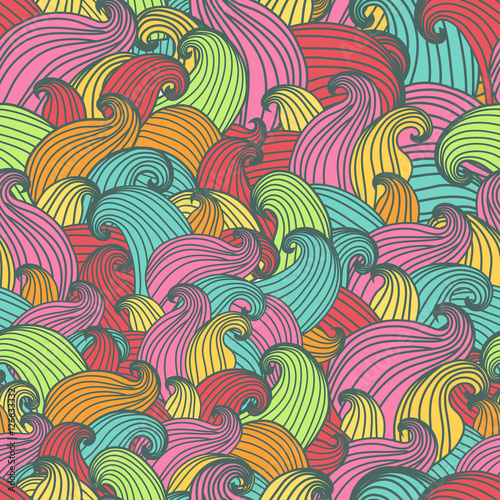 Cadres-photo bureau Hibou Seamless pattern with swirls
