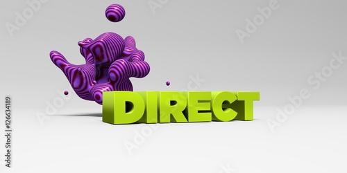 DIRECT - 3D rendered colorful headline illustration Poster