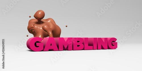 фотография  GAMBLING - 3D rendered colorful headline illustration