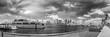 Black and white skyline of West Palm Beach, Florida
