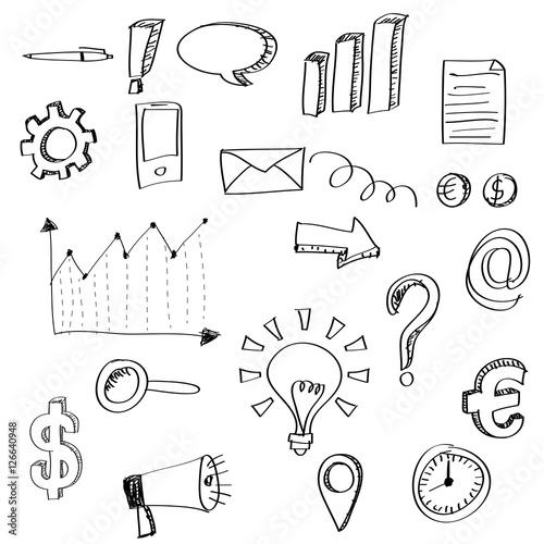 Set Of Business Doodles